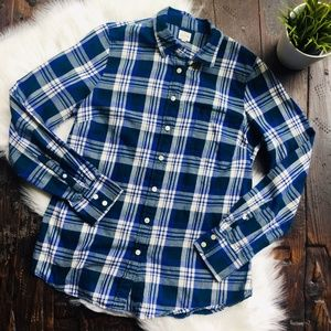 J. CREW THE PERFECT SHIRT Plaid Flannel Button Top